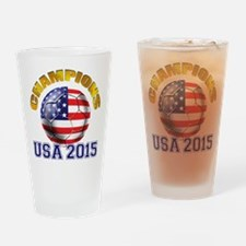 USA Soccer Drinking Glass