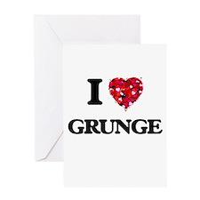 I love Grunge Greeting Cards