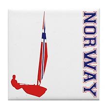 Sailing Norway Tile Coaster