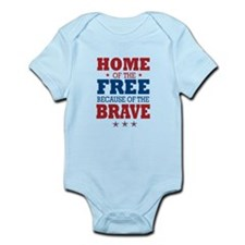 Home of the Free because of the Brave Body Suit