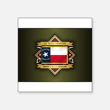 """Unique 1st texas infantry Square Sticker 3"""" x 3"""""""