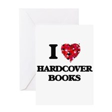 I love Hardcover Books Greeting Cards