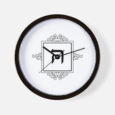 Hey Hebrew monogram Wall Clock