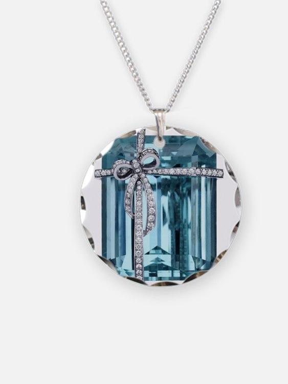 Blue-Brooch Jewelry Necklace