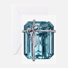 Blue-Brooch Jewelry Greeting Cards