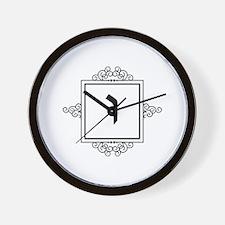 Vav Hebrew monogram Wall Clock