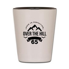 Over The Hill 65th Birthday Shot Glass