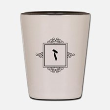 Zayin Hebrew monogram Shot Glass