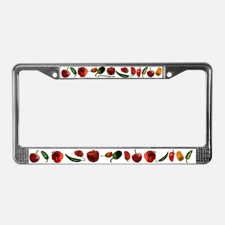 Chili Peppers License Plate Frame