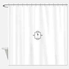 Yod Hebrew monogram Shower Curtain