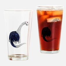 Diamond_Emerald_Dinosaur Drinking Glass