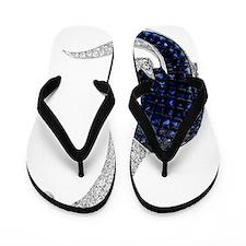 Diamond_Emerald_Dinosaur Flip Flops