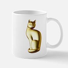 Elegant Gold Cat Mugs