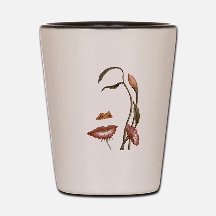 Face flower Shot Glass