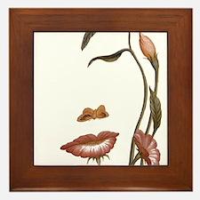 Face flower Framed Tile