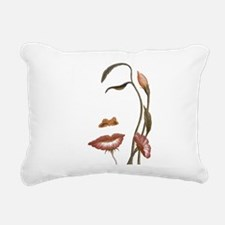 Face flower Rectangular Canvas Pillow