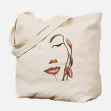 Face flower Tote Bag