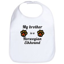 My Brother Is A Norwegian Elkhound Bib