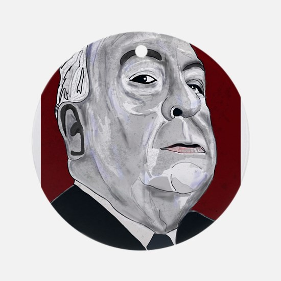 Alfered Hitchcock Ornament (Round)