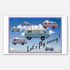 Flying Campers Sticker (Rectangle)