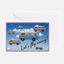 Flying Campers Greeting Card