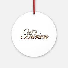 Gold Adrien Round Ornament