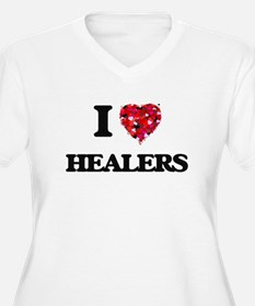 I love Healers Plus Size T-Shirt
