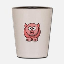 Cartoon Pig Shot Glass