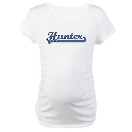 Hunter (sport-blue) Maternity T-Shirt