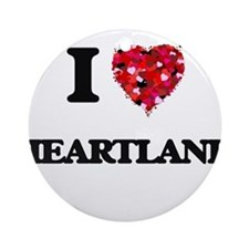 I love Heartland Ornament (Round)