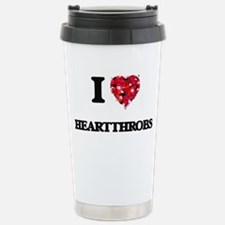 I love Heartthrobs Stainless Steel Travel Mug