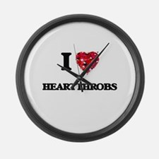 I love Heartthrobs Large Wall Clock