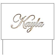 Gold Kayla Yard Sign