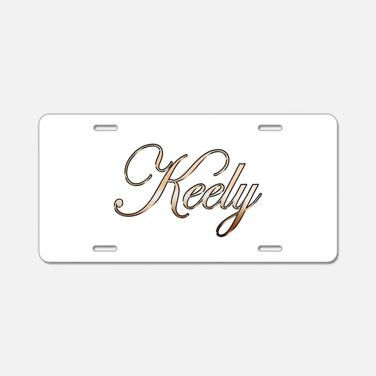 Gold Keely Aluminum License Plate