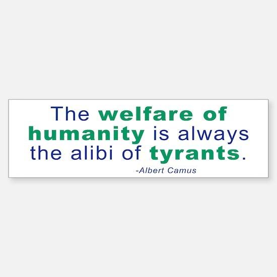 Albert Camus Bumper Bumper Bumper Sticker