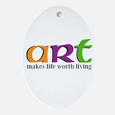 Art Ornament (Oval)