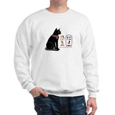 Cat Bastet & Egyptian Hieroglyphics Sweater