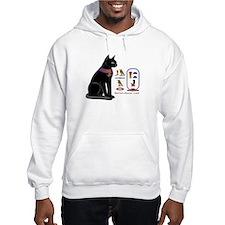 Cat Bastet & Egyptian Hieroglyphics Hoodie Sweatshirt