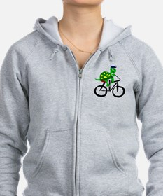 Turtle Riding Bicycle Zip Hoody