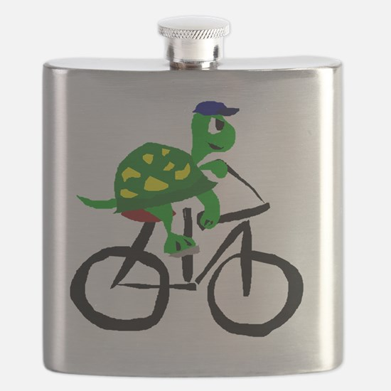 Turtle Riding Bicycle Flask
