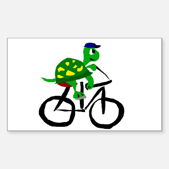 Turtle Riding Bicycle Decal