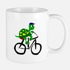 Turtle Riding Bicycle Mugs