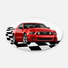2014RRMustangGT Oval Car Magnet