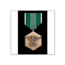 "Funny Us military medals Square Sticker 3"" x 3"""