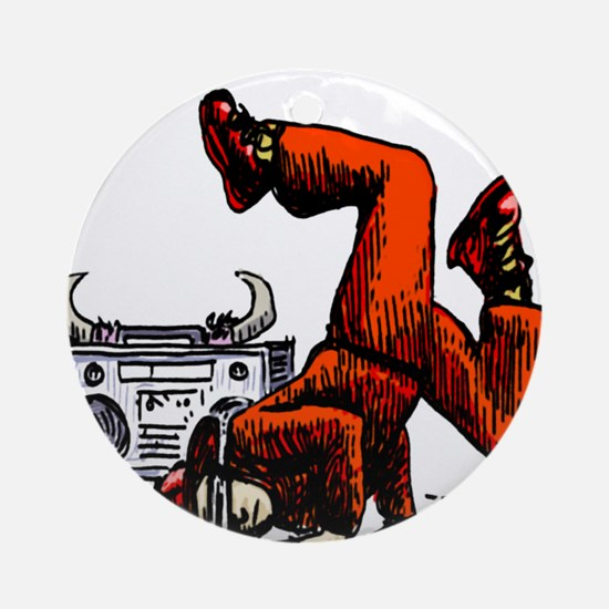 Breakdance_oldschool Ornament (Round)