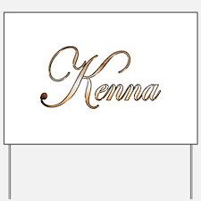 Gold Kenna Yard Sign