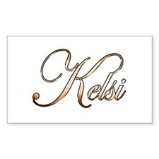 Gold Kelsi Decal