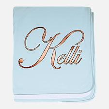 Gold Kelli baby blanket