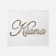 Gold Kiana Throw Blanket