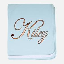 Gold Kiley baby blanket